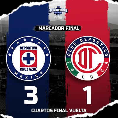 Cruz Azul vs Toluca