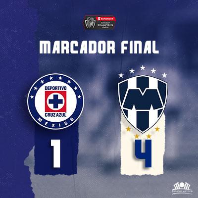 Cruz Azul vs Monterrey CC